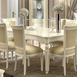 Camel Torriani Day Ivory Italian 180cm Rectangular Extending Dining Table