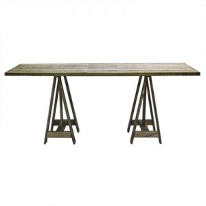 Casper Recycled Timber 160cm Trestle Dining Table