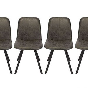 Diego Set of 4 Dining Chairs - Grey - By Furniture Village