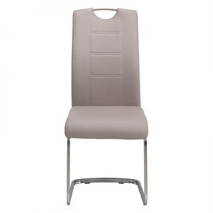 Liam Faux Leather Dining Chair, Cappuccino