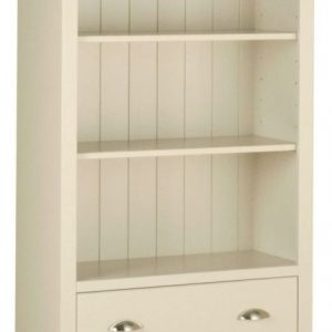 Lundy Painted Pine 6ft 2 Drawer Bookcase By Devonshire