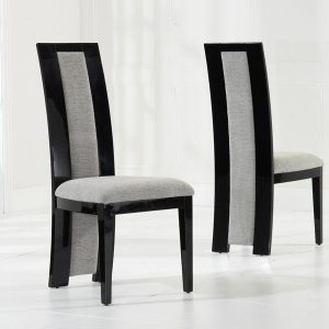 Mark Harris Rivilino Black High Gloss Dining Chair