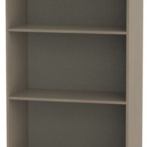Ready Assembled Knightsbridge Toronto Walnut Bookcase - 2 Shelves - Welcome Furniture