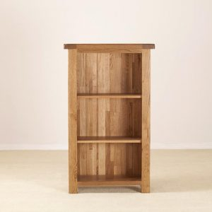 Rustic Oak Bookcase - 3ft Narrow