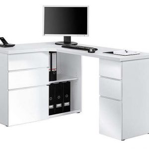 South Street Fulton Computer Desk - White - By Furniture Village
