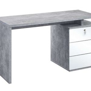 South Street Seaport Computer Desk - White - By Furniture Village