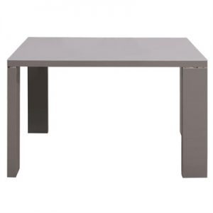Syros High Gloss Dining Table, 120cm, Grey