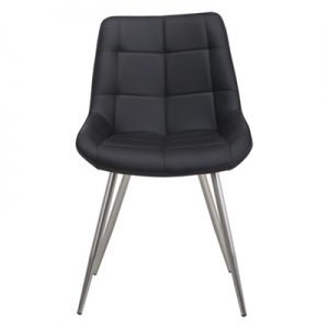 Trix Faux Leather Dining Chair, Black