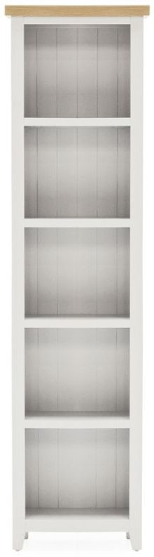 Vida Living Ferndale Grey Painted Narrow Bookcase