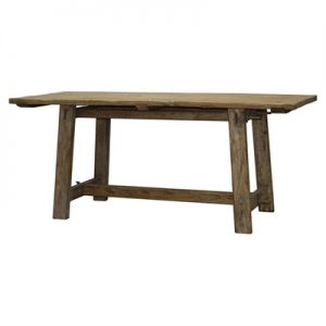 Village Recycled Elm Timber Trestle Dining Table, 280cm