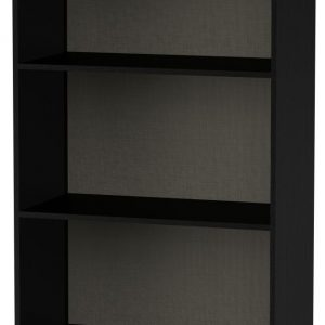 Welcome Living Room Furniture High Gloss Black Bookcase - 2 Shelves - Welcome Furniture