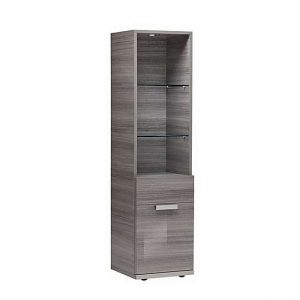 ALF - Movado Left-hand Facing Bookcase - Grey