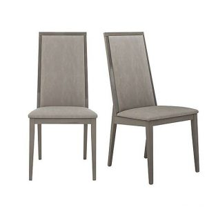 ALF - Movado Pair of Dining Chairs - Grey