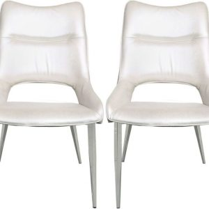 Adams White Dining Chair (Set of 4)