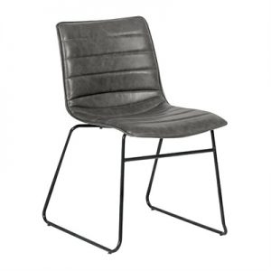 Crosby PU Leather Dining Chair, Grey