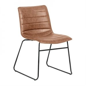 Crosby PU Leather Dining Chair, Tan