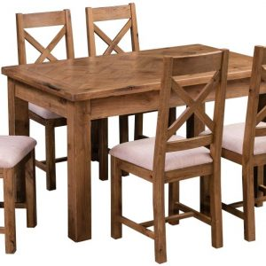 Homestyle Aztec Oak Dining Set - 6 Chairs