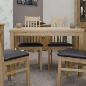 Homestyle Elegance Oak Medium Dining Set - 4 Sophia Chairs