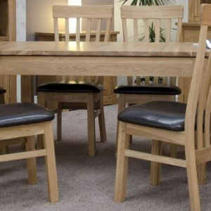 Homestyle Milano Oak Extending Dining Set - 6 Lucia Chairs