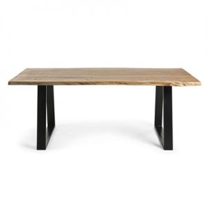 Mildura Acacia Timber & Steel Dining Table, 200cm