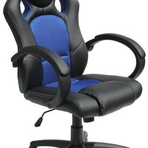 Alphason Daytona Black and Blue Faux Leather Office Chair - AOC5006BLU