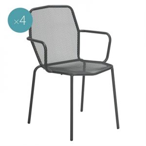 Trevi Outdoor Dining Armchair (Set of 4)
