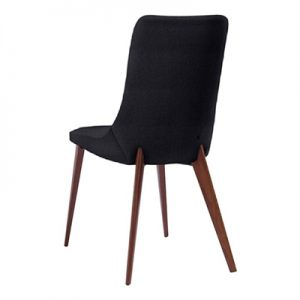 Forza Dining Chair, Black / Walnut