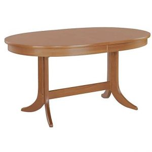 Nathan - Classic Oval Extending Dining Table - Brown