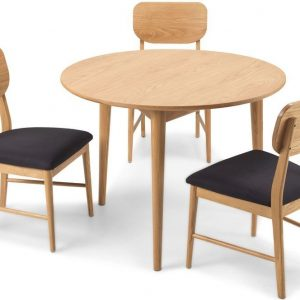 Skean Oak Round Dining Set with 4 Chairs