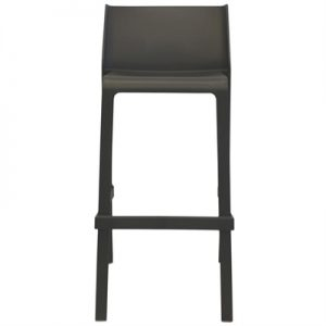 Trill Italian Made Commercial Grade Indoor / Outdoor Bar Stool, Anthracite