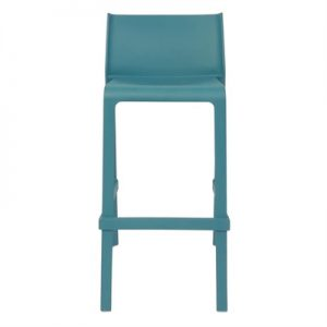 Trill Italian Made Commercial Grade Indoor / Outdoor Bar Stool, Teal