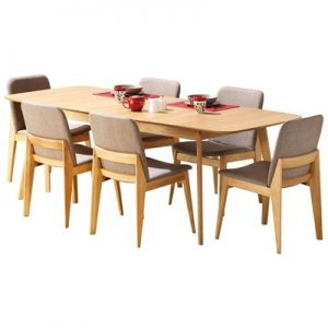 Harris 7 Piece Timber Extension Dining Table Set, 180-220cm