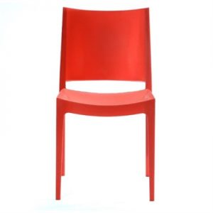Velasco Commercial Grade Outdoor Dining Chair, Red