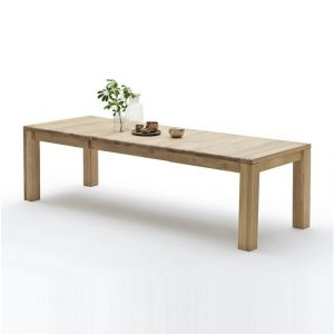 Abbot Extendable Dining Table Extra Large In Beech Heartwood