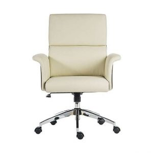 East River Elegance Medium-back Office Chair - Cream - By Furniture Village