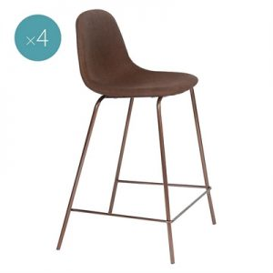 Jeela Bar Stool, Brown (Set of 4)
