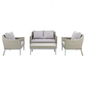 Monti 4 Piece Outdoor Wicker Lounge Set