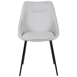 Bellagio Commercial Grade Fabric Dining Chair, Light Grey