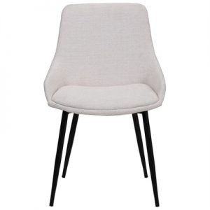Como Commercial Grade Fabric Dining Chair, Light Beige