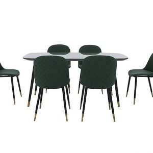 Como Dining Table and 6 Chairs - By Furniture Village