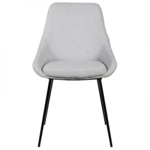 Domo Commercial Grade Fabric Dining Chair, Grey -I