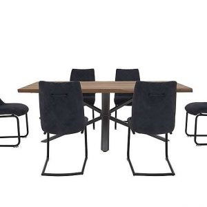 Habufa - Philadelphia Dining Table and 6 Dining Chairs - 170-cm