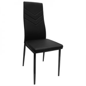 Harley PU Leather Dining Chair, Black