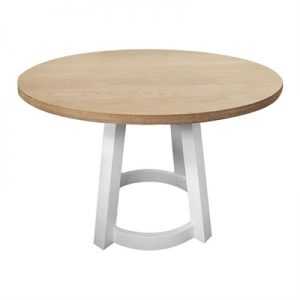 Havana Rubber Wood Round Dining Table, 120cm