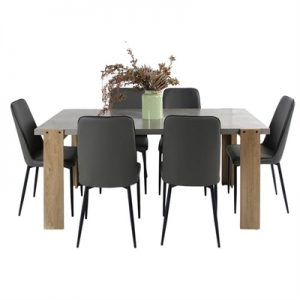 Munich 7 Piece Dining Table Set, 180cm, with Munich Chair