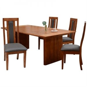 Amold 7 Piece Mountain Ash Timber Dining Table Set, 210cm