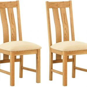 Classic Portland Dining Chair (Pair) - Oak
