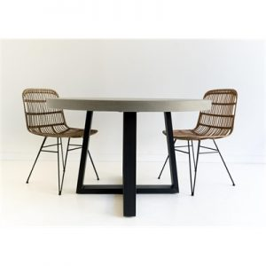 1.2m Antwerp Round ElkStone Dining Table | Grey & Black