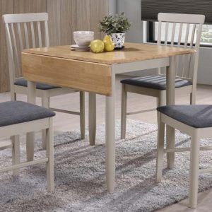 Alcor Square Drop Leaf Dining Set With 2 Chairs