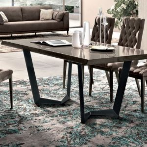 Camel Elite Day Italian Extending Dining Table and 6 Capitonne Dining Chairs
